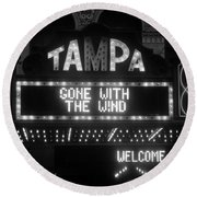 Tampa Theatre 1939 Round Beach Towel