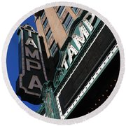 Tampa Theatre  Round Beach Towel