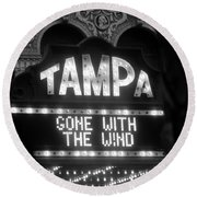 Tampa Theatre Gone With The Wind Round Beach Towel