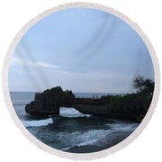 Tanah Lot Round Beach Towel