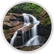 Upper Dill Falls Round Beach Towel