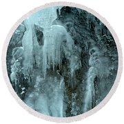 Tangle Falls Frozen Cascade Round Beach Towel