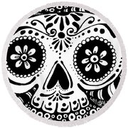 Tangled Skull Round Beach Towel