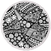 Tangled Stars  Round Beach Towel