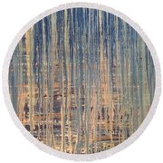 Tangled Up In Blue Round Beach Towel