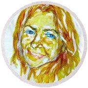 Tania Helft, Portrait Round Beach Towel