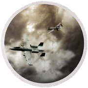 Tank Busters Round Beach Towel