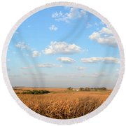 Tanner Farm 2 Round Beach Towel