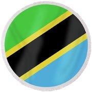 Tanzania Flag Round Beach Towel