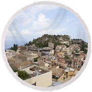 Taormina View II Round Beach Towel