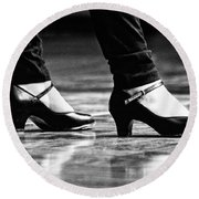 Tap Shoes Round Beach Towel