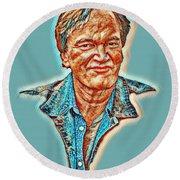 Tarantino Portrait Round Beach Towel