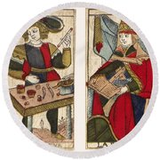 Tarot Cards, C1700 Round Beach Towel