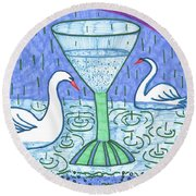 Tarot Of The Younger Self Ace Of Cups Round Beach Towel