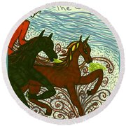 Tarot Of The Younger Self The Chariot Round Beach Towel