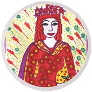 Tarot Of The Younger Self The Empress Round Beach Towel