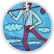 Tarot Of The Younger Self The Fool Round Beach Towel