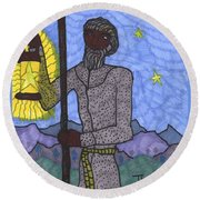 Tarot Of The Younger Self The Hermit Round Beach Towel