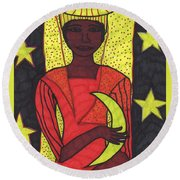 Tarot Of The Younger Self The High Priestess Round Beach Towel