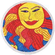 Tarot Of The Younger Self The Sun Round Beach Towel