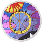 Tarot Of The Younger Self The Wheel Round Beach Towel