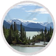 Taseko Lake Round Beach Towel