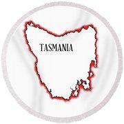 Tasmania Round Beach Towel