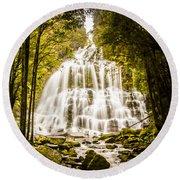 Tasmanian Waterfalls Round Beach Towel