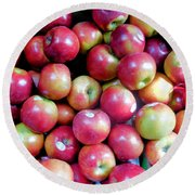 Tasty Fresh Apples 1 Round Beach Towel