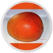 Tasty Mango Round Beach Towel
