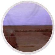 Tatooine Sunset Round Beach Towel