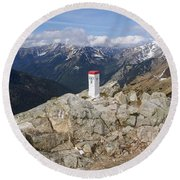 Tatra Mountains 1 Round Beach Towel