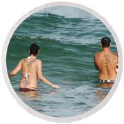 Tattoo Family Round Beach Towel