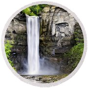 Taughannock Falls Gorge Round Beach Towel