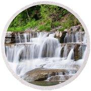 Taughannock Falls Sp 0462 Round Beach Towel