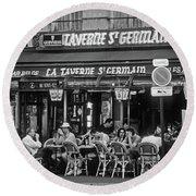 Taverne St. Germain, Paris Round Beach Towel