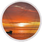 Taveuni Sunset Round Beach Towel