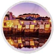 Tavira Reflections - Portugal Round Beach Towel by Barry O Carroll