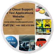 Taxi Booking Application Round Beach Towel