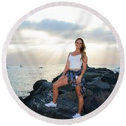 Taylor 034 Round Beach Towel