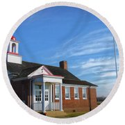 Taylor Bridge School Round Beach Towel