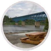 Taylor Peace River Bridge Round Beach Towel