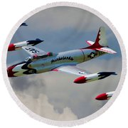Tbirds Lockheed T-33 Shooting Star Round Beach Towel