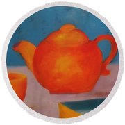 Tea? Round Beach Towel
