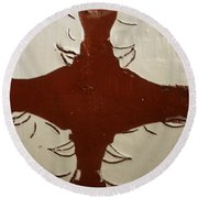 Tea Time - Tile Round Beach Towel