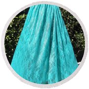 Teal Green Lace Skirt. Ameynra By Sofia Round Beach Towel