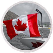 Team Canada Round Beach Towel