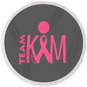 Team Kim Round Beach Towel
