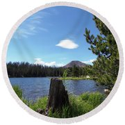 Teapot Lake Round Beach Towel