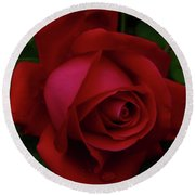 Teardrops Of A Rose Round Beach Towel